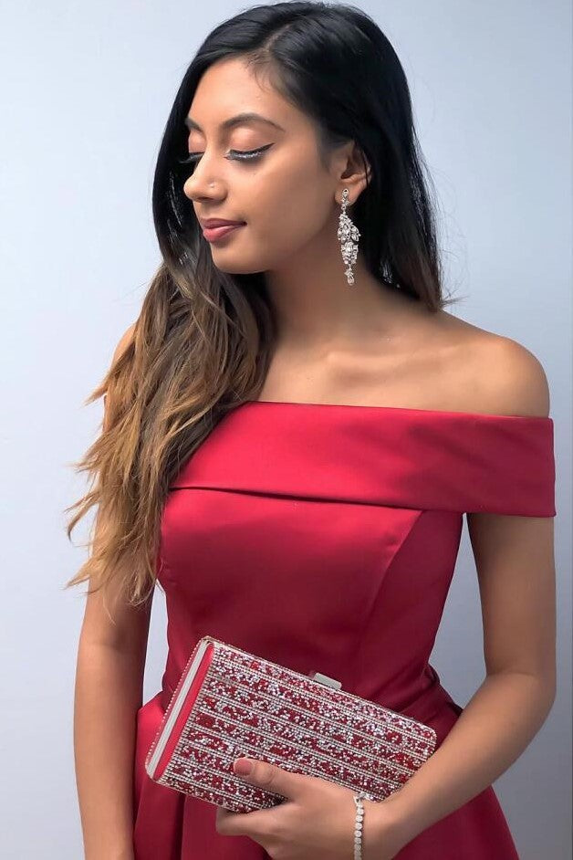 textured-off-the-shoulder-homecoming-dress-with-bow-sash-1