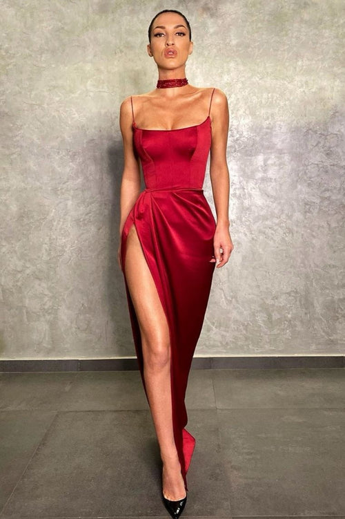 thin-straps-long-prom-gown-with-high-thigh-slit