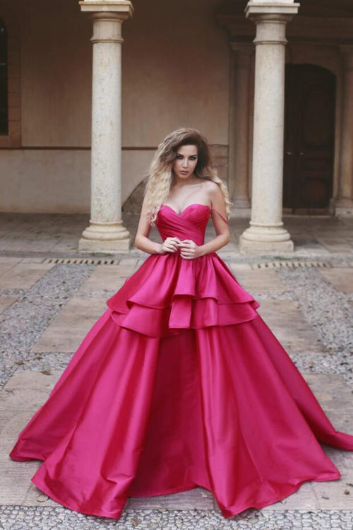 tiered-ball-gown-sweetheart-sexy-prom-dress-fuchsia