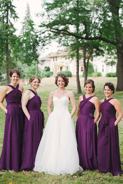 traditional-wedding-party-dress-grape-purple-chiffon-bridesmaid-gown-with-pockets