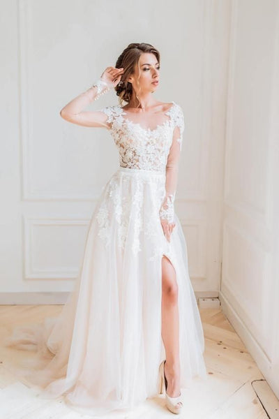 tulle-beach-bridal-gown-with-illusion-long-sleeves
