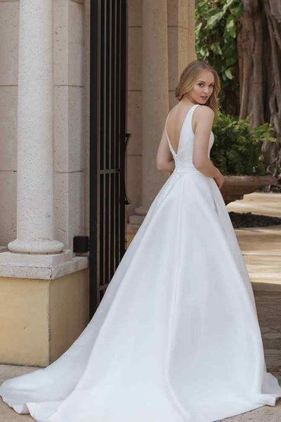 v-neck-chic-satin-wedding-gown-with-pockets-1