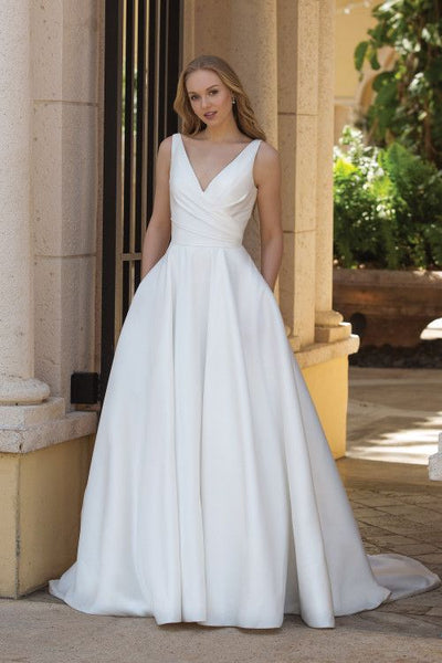 v-neck-chic-satin-wedding-gown-with-pockets