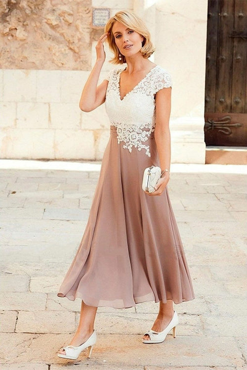 v-neck-chiffon-mother-of-the-bride-lace-dress-with-cap-sleeves