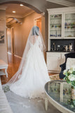 v-neck-long-sleeves-vintage-wedding-dress