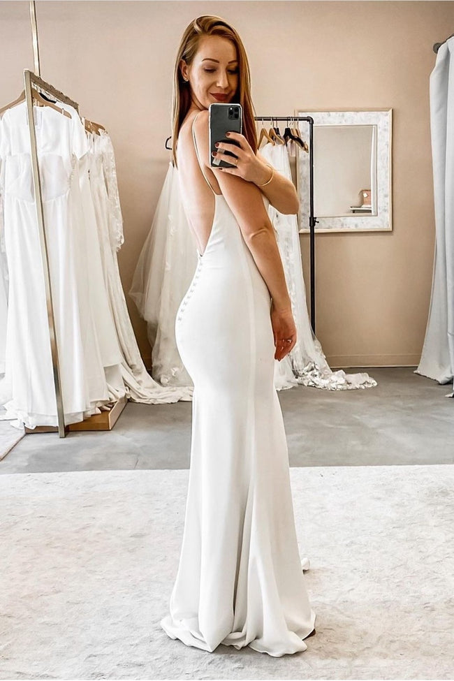 v-neck-straight-boho-wedding-dress-with-spaghetti-straps-1