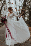 v-neckline-beach-bridal-dress-with-sheer-lace-sleeves