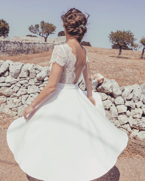 v-neckline-bride-short-wedding-dress-with-lace-sleeves-2