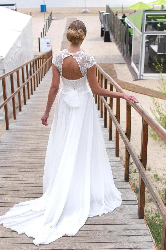v-neckline-capped-sleeves-beach-wedding-dress-with-hollow-back-1