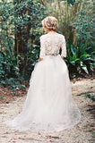 v-neckline-garden-bridal-wedding-dress-with-lace-sleeves-2
