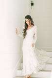 v-neckline-lace-retro-bridal-gown-wedding-dress-with-long-sleeves