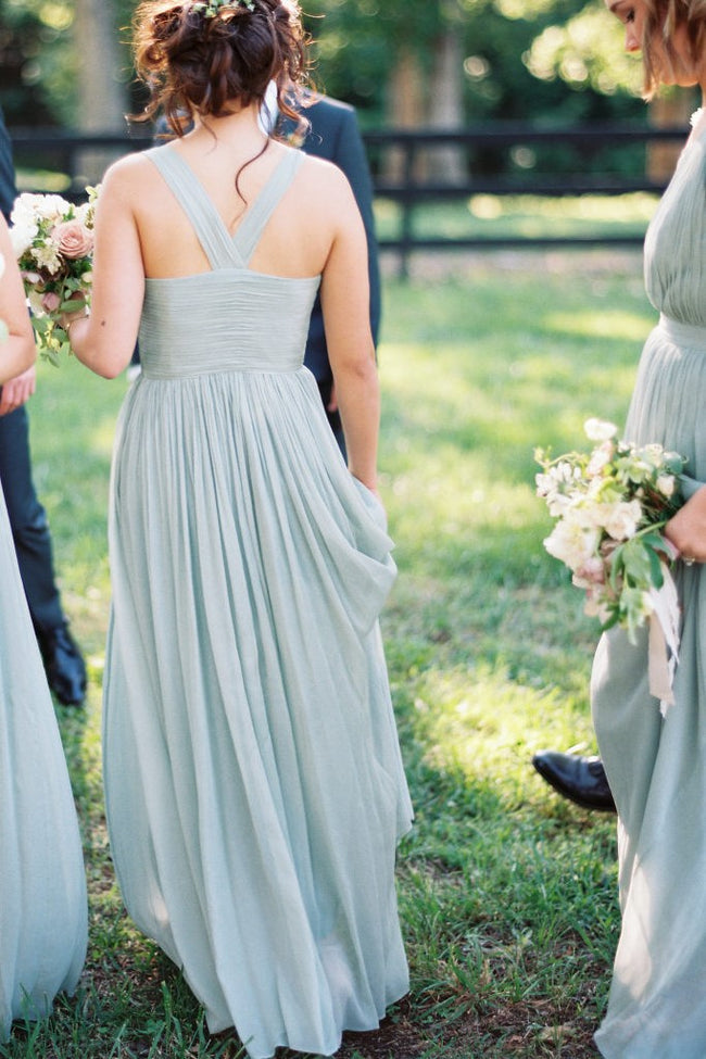 v-neckline-sage-long-bridesmaid-gown-chiffon-skirt-1