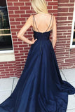 v-neckline-satin-navy-blue-prom-gowns-with-pockets-1