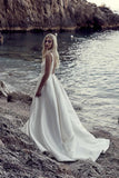 v-neckline-satin-simple-bridal-gown-with-open-back-1