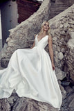 v-neckline-satin-simple-bridal-gown-with-open-back