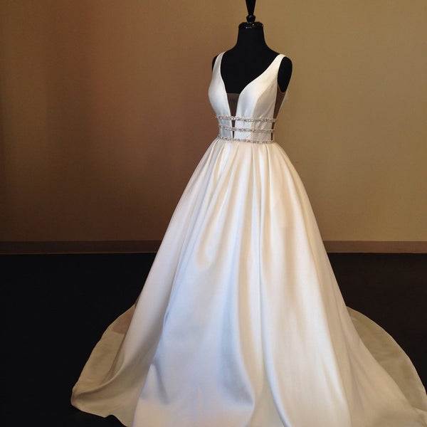 v-neckline-satin-wedding-gowns-with-beading-belt-2