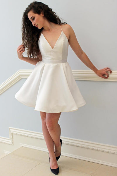 v-neckline-simple-ivory-little-party-dress-cheap-vestido-de-fiesta