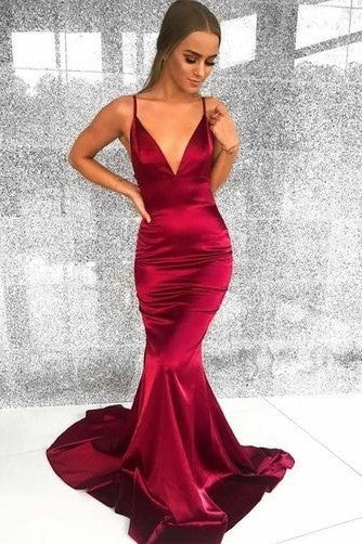 v-neckline-simple-mermaid-evening-gowns-with-spaghetti-straps