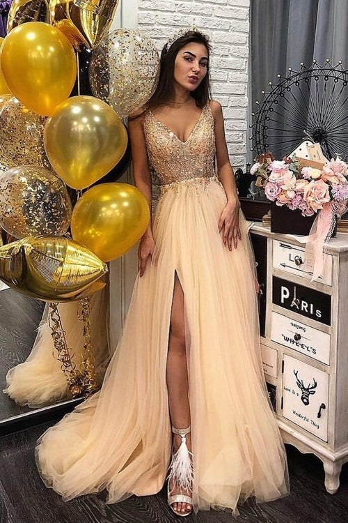 v-neckline-stones-long-tulle-prom-dress-with-slit-side