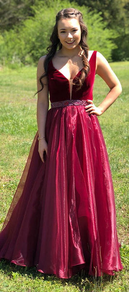 vestido-de-fiesta-a-line-burgundy-organza-prom-gown-with-beaded-belt-22