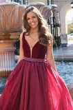 vestido-de-fiesta-a-line-burgundy-organza-prom-gown-with-beaded-belt