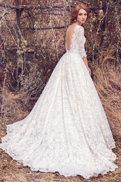 vintage-full-lace-bridal-dress-elbow-sleeves-1