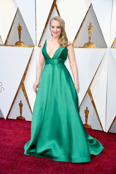 green-satin-dress-oscars-2018-red-carpet