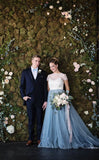 white-and-blue-wedding-dresses-with-lace-jacket