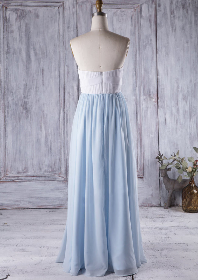 white-blue-chiffon-long-bridesmaid-gown-for-beach-weddings-1