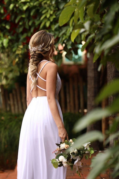 white-chiffon-summer-wedding-gown-with-strappy-back-1