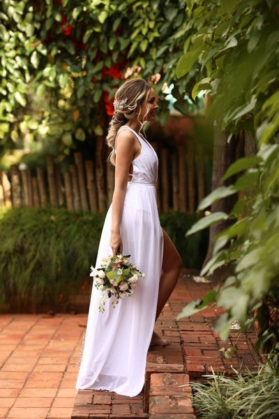 white-chiffon-summer-wedding-gown-with-strappy-back-2