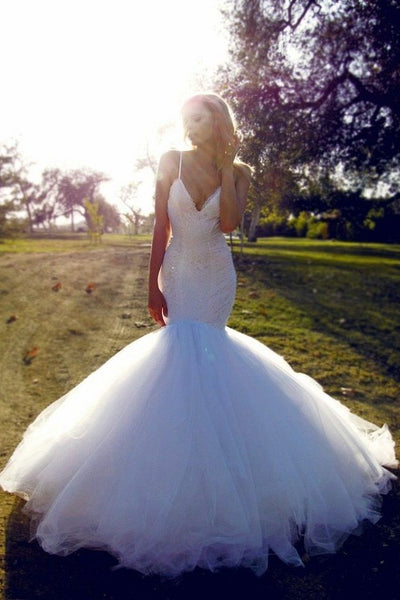 white-lace-mermaid-wedding-gowns-dress-with-tulle-skirt
