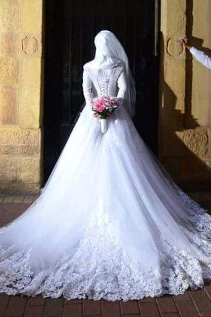white-lace-muslim-wedding-dresses-with-long-sleeves-1