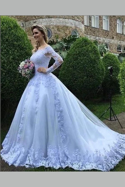 white-lace-tulle-wedding-gown-off-the-shoulder-long-sleeves-1