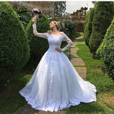 white-lace-tulle-wedding-gown-off-the-shoulder-long-sleeves-2