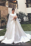 white-satin-modest-wedding-dresses-with-long-sleeves