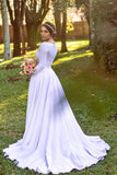 white-spandex-long-sleeves-wedding-dress-2021-spring-1