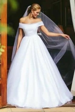 white-tulle-a-line-wedding-dresses-off-the-shoulder-1
