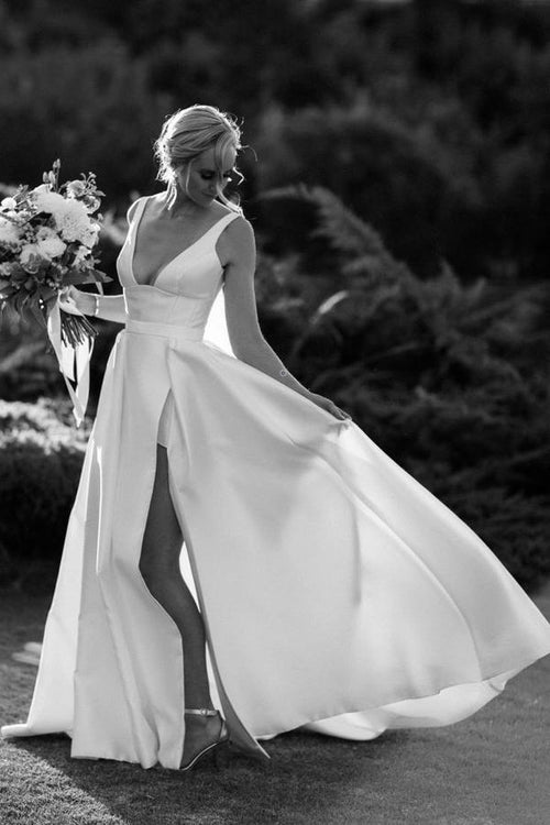 wide-v-neck-satin-bridal-gown-with-long-leg-slit