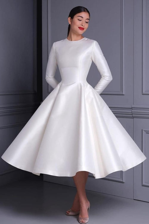 women-modest-midi-wedding-dresses-with-long-sleeves