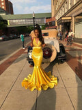 yellow-bodycon-mermaid-prom-dresses-long-with-appliuqes-1