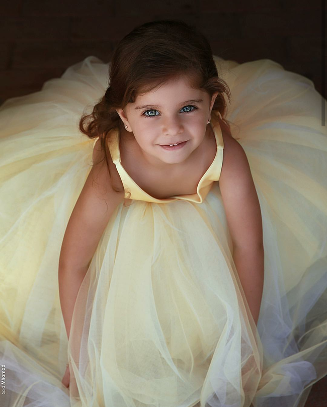 yellow-v-neckline-tulle-flower-girl-dress-kids-communion-dresses-1