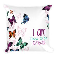I Am  Pillow- Butterflies