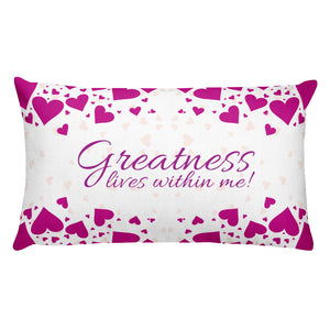 Greatness-Rectangular Pillow