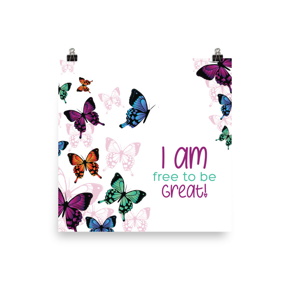 I Am-Butterflies Poster