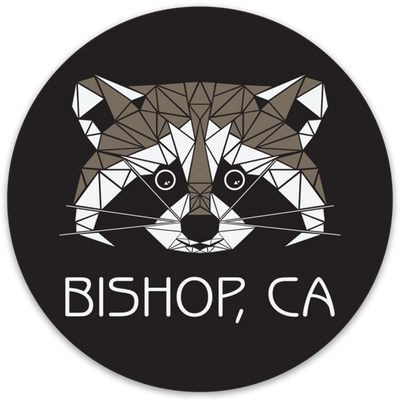 Bishop Geo Raccoon Outdoor Decal