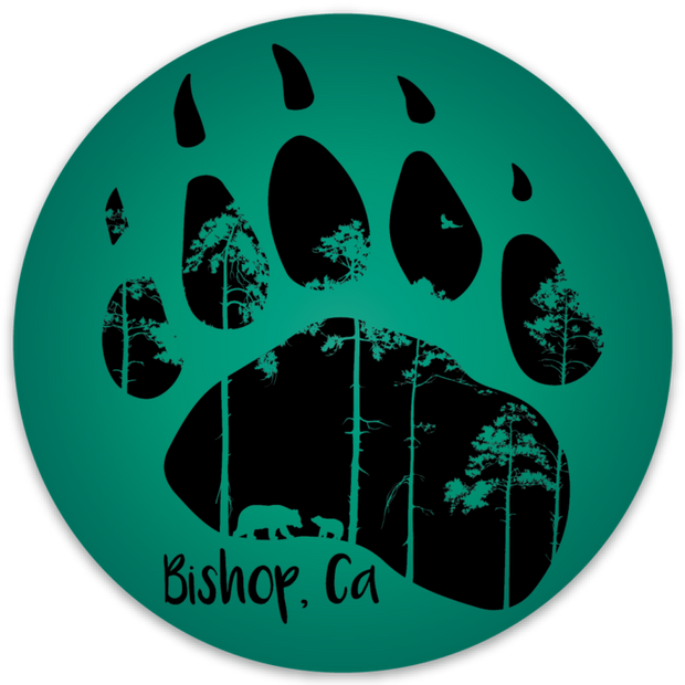 Bishop Bear Paw Outdoor Decal