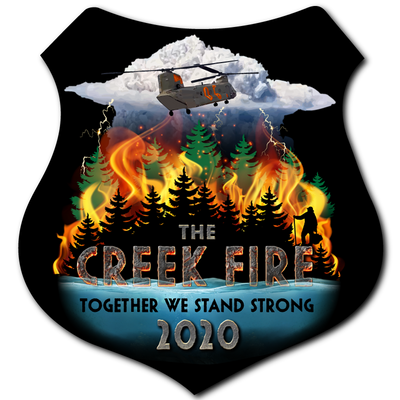 Creek Fire Fundraiser - Outdoor Decal