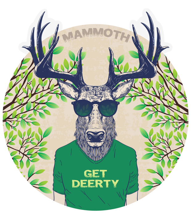 Mammoth - Get Deerty - Outdoor Decal