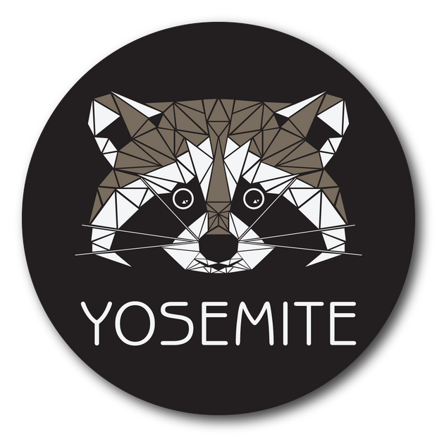 Yosemite Geo Raccoon Outdoor Decal